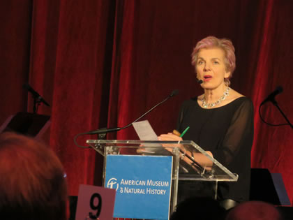 Lorna Kelly helps raise more than $1 Million at the American Museum of Natural History in New York City, Novmember, 2015