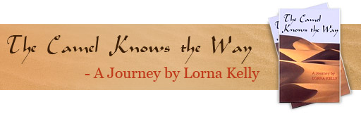 Author Lorna Kelly, book, The Camel Knows the Way