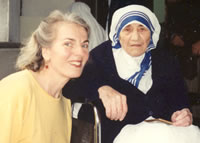 Lorna Kelly with Mother Teresa